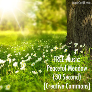 FREE Music: Peaceful Meadow Song (30 Second) {Creative Commons}